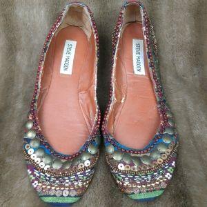 BOGO Steve Madden sequins veads flats color shoes